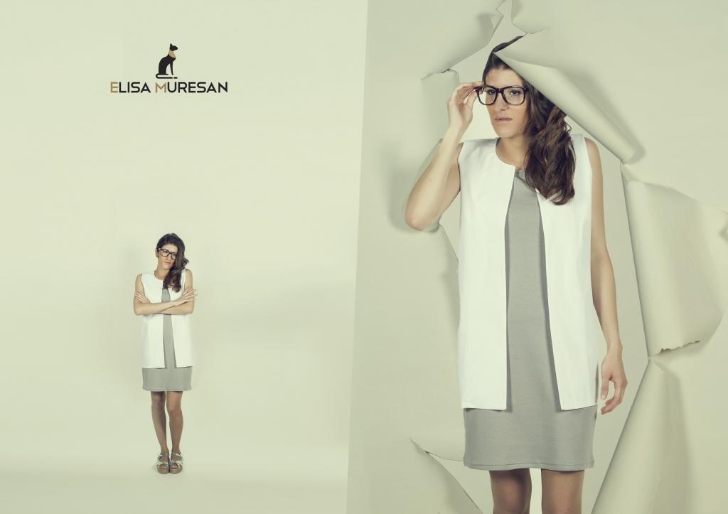 Vestido básico y chaleco algocón orgánico | Elisa Muresan