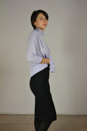 falda-lapiz-lateral | Elisa Muresan moda sostenible