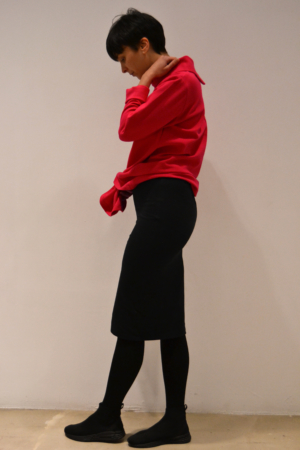falda-tubo-negra-lateral | Elisa Muresan ropa ecológica