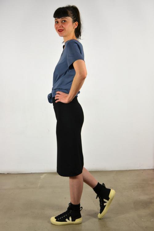 falda-tubo-lateral | Elisa Muresan moda sostenible