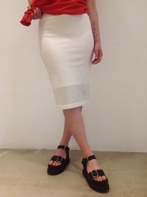 Falda-tubo-blanca | Elisa Muresan ropa ecológica