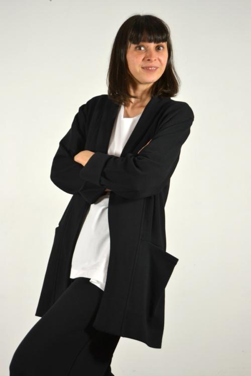 chaqueta-americana-detalle | Elisa Muresan ropa ecológica