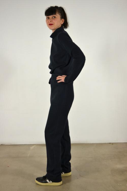 pantalon-pana-navy-lateral | Elisa Muresan moda sostenible