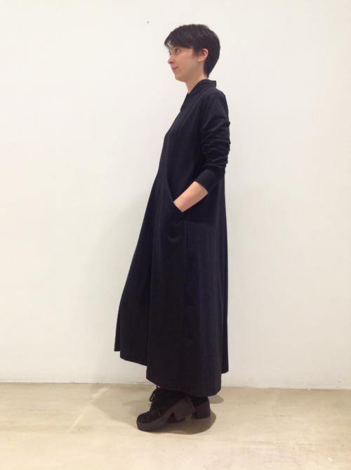 vestido-rayo-negro-lateral | Elisa Muresan ropa ecológica