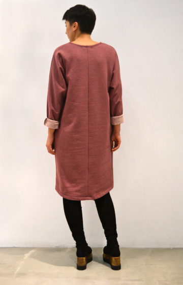 Vestido-rosa-antiguo-espalda | Elisa Muresan moda sostenible