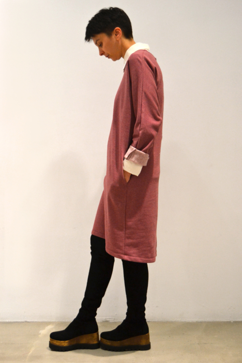 Vestido-rosa-antiguo-lateral | Elisa Muresan ropa ecológica