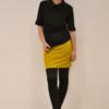 falda-corta-mostaza | Elisa Muresan moda sostenible