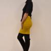 falda-corta-mostaza-lateral | Elisa Muresan ropa ecológica