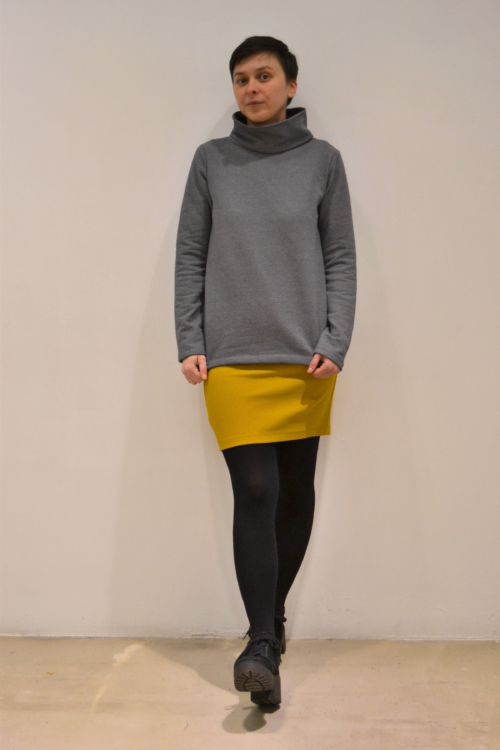 jersey-gris-cuello | Elisa Muresan moda sostenible