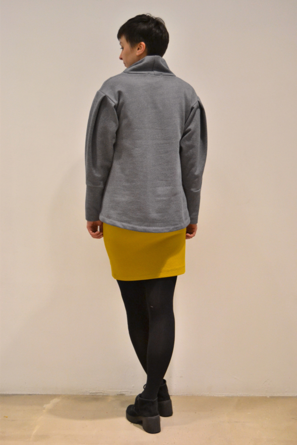 jersey-manga-abullonada-espalda | Elisa Muresan ropa ecológica