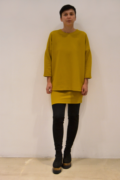jersey-over-mostaza | Elisa Muresan moda sostenible