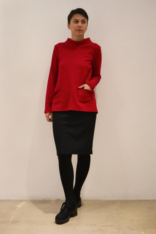 jersey-rojo | Elisa Muresan moda sostenible