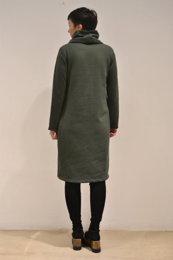 vestido-corto-verde-espalda | Elisa Muresan ropa ecológica