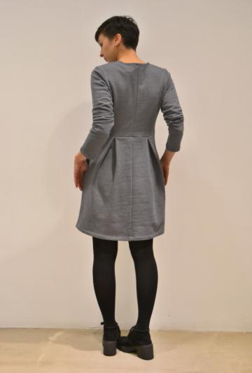 vestido-falda-palas-espalda | Elisa Muresan ropa ecológica