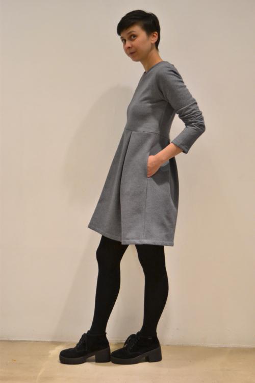 vestido-falda-palas-lateral | Elisa Muresan moda sostenible