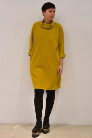 vestido-over-mostaza | Elisa Muresan moda sostenible