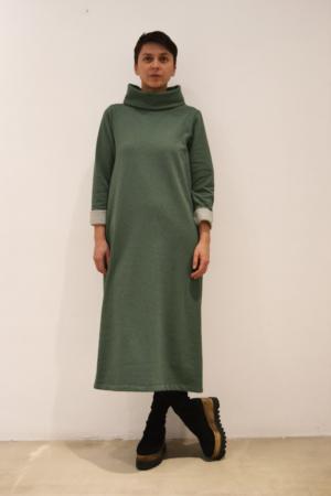 vestido verde | Elisa Muresan ropa ecológica