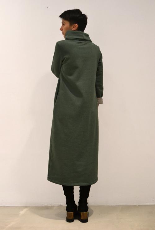 vestido-verde-espalda | Elisa Muresan moda sostenible