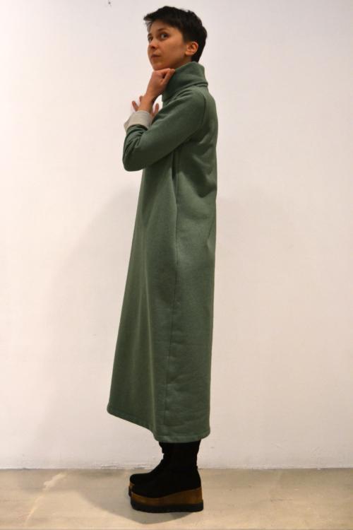 vestido-verde-lateral | Elisa Muresan moda sostenible