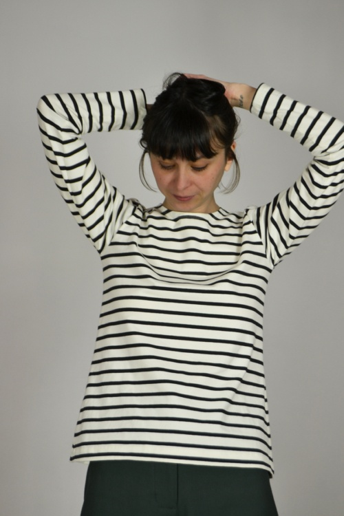 camiseta-basica-rayas | Elisa Muresan moda sostenible