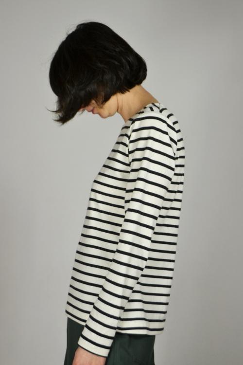 camiseta-basica-rayas-lateral | Elisa Muresan moda sostenible