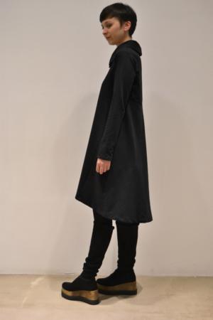 vestido-cuello-camisa-lateral | Elisa Muresan moda sostenible