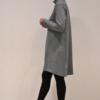 vestido-gris-evase-lateral | Elisa Muresan moda sostenible