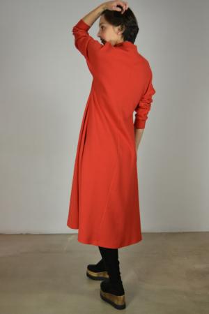 vestido-midi-aurora-lateral | Elisa Muresan ropa ecológica