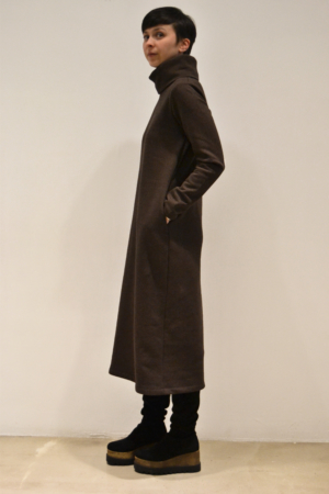 vestido-midi-mocca-lateral | Elisa Muresan ropa ecológica