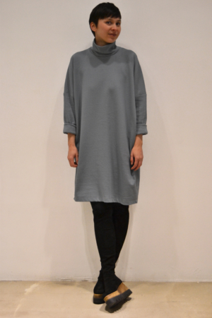 vestido-over-gris | Elisa Muresan moda sostenible