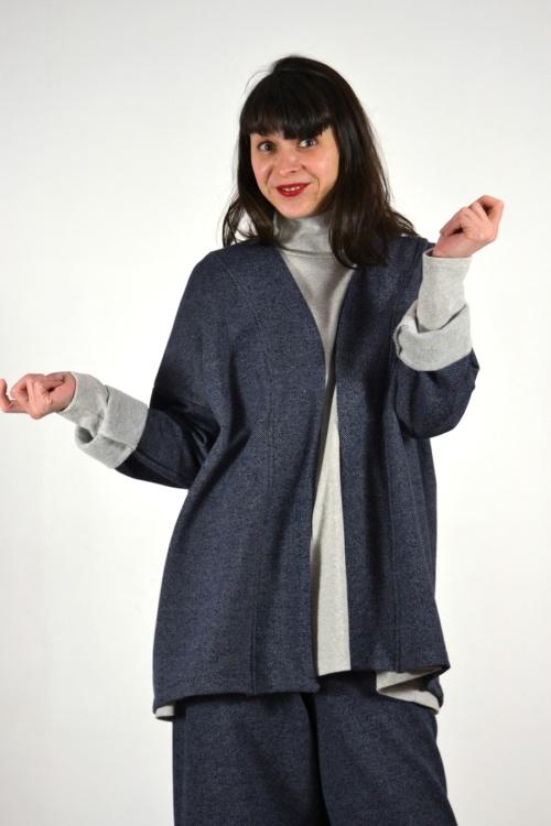 Chaqueta-kimono-detalle | Elisa Muresan ropa ecológica