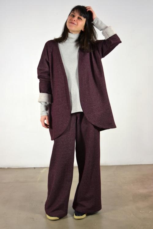 Chaqueta-vino | Elisa Muresan moda sostenible