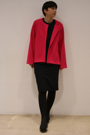 chaqueta-magenta | Elisa Muresan ropa ecológica