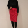 falda-tubo-magenta   Elisa Muresan moda sostenible