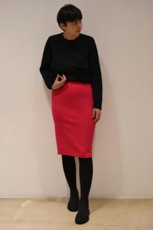 falda-tubo-magenta | Elisa Muresan moda sostenible