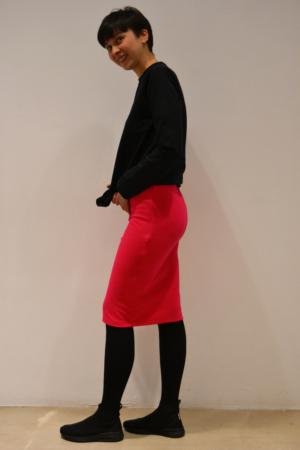 falda-tubo-magenta-lateral | Elisa Muresan ropa ecológica.