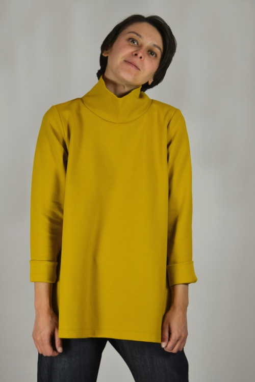 jersey-capa-mostaza | Elisa Muresan ropa ecológica