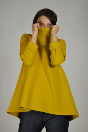 jersey-capa-mostaza-detalle   Elisa Muresan ropa ecológica