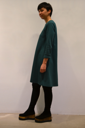 vestido-verde-lateral | Elisa Muresan ropa ecológica