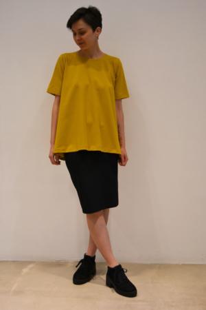 Camiseta-mostaza | Elisa Muresan moda sostenible