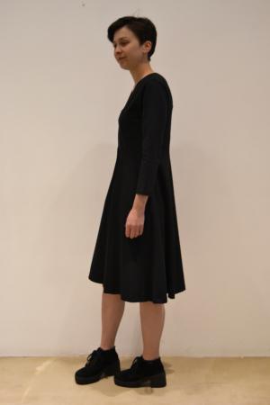 Vestido-pico-lateral | Elisa Muresan ropa ecológica