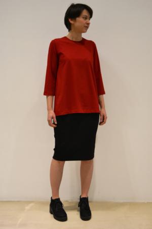 camiseta roja | Elisa Muresan ropa ecológica