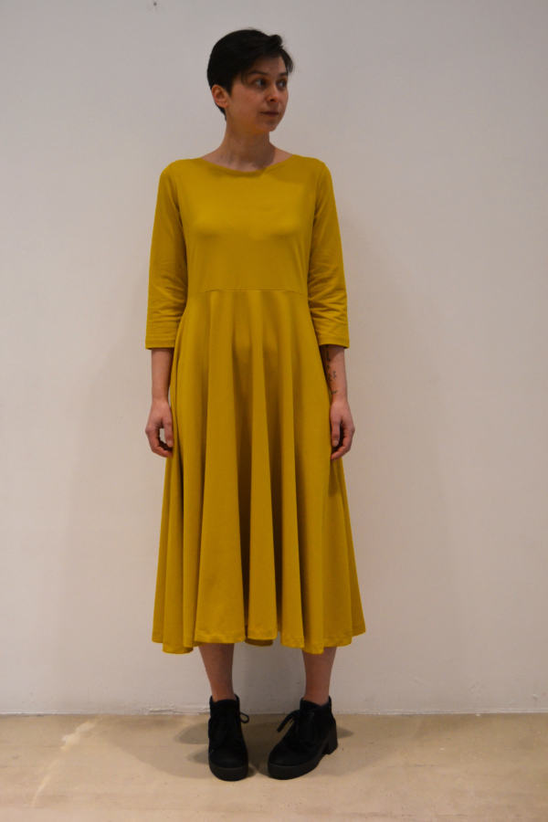 vestido-mostaza | Elisa Muresan ropa ecológica