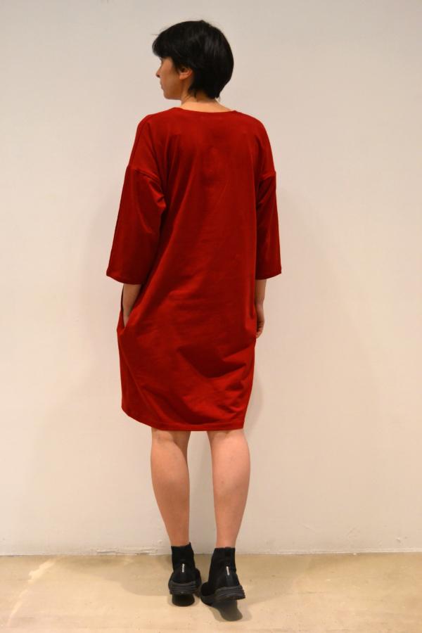 vestido-over-rojo-detras | Elisa Muresan moda sostenible