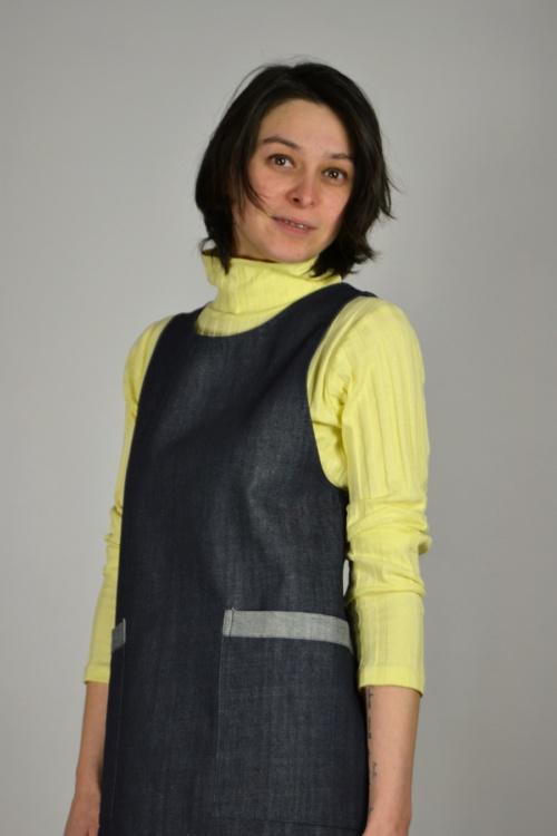 pichi vaquero detalle | Elisa Muresan ropa ecológica