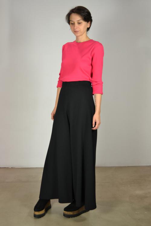 Falda-pantalon-lateral   Elisa Muresan moda sostenible