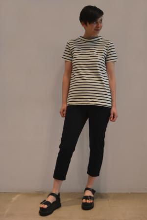 camiseta-raya-BN | Elisa Muresan moda sostenible