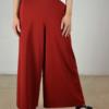 falda-pantalón-rojo-detalle   Elisa Muresan moda sostenible
