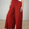 falda-pantalón-rojo-lateral   Elisa Muresan moda sostenible
