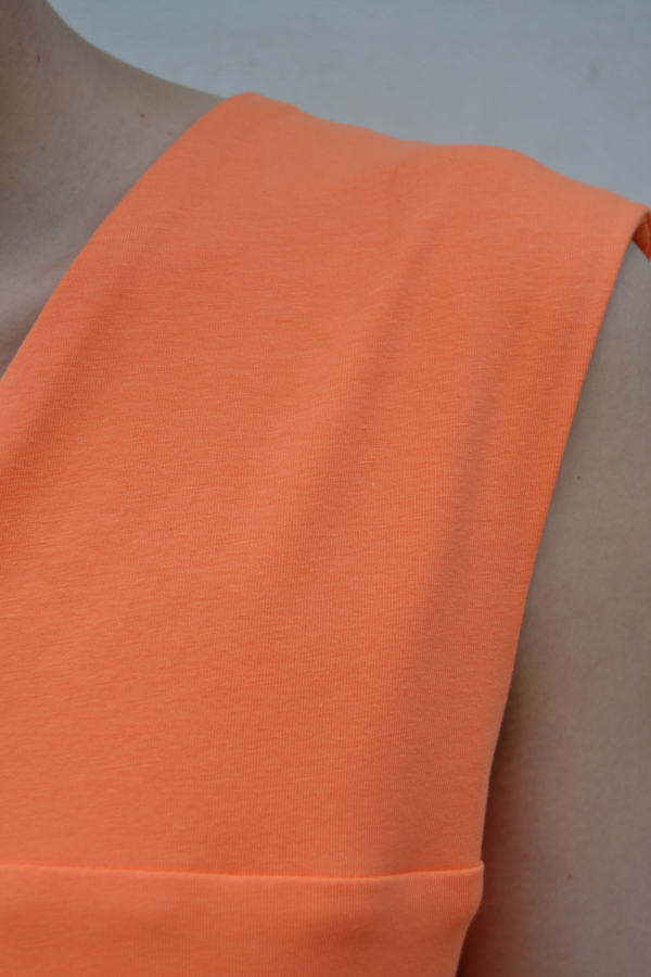 vestido-papaya-detalle | Elisa Muresan moda sostenible